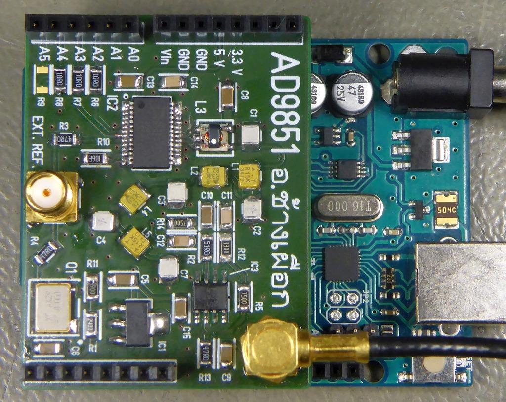 AD9851 and Arduino UNO