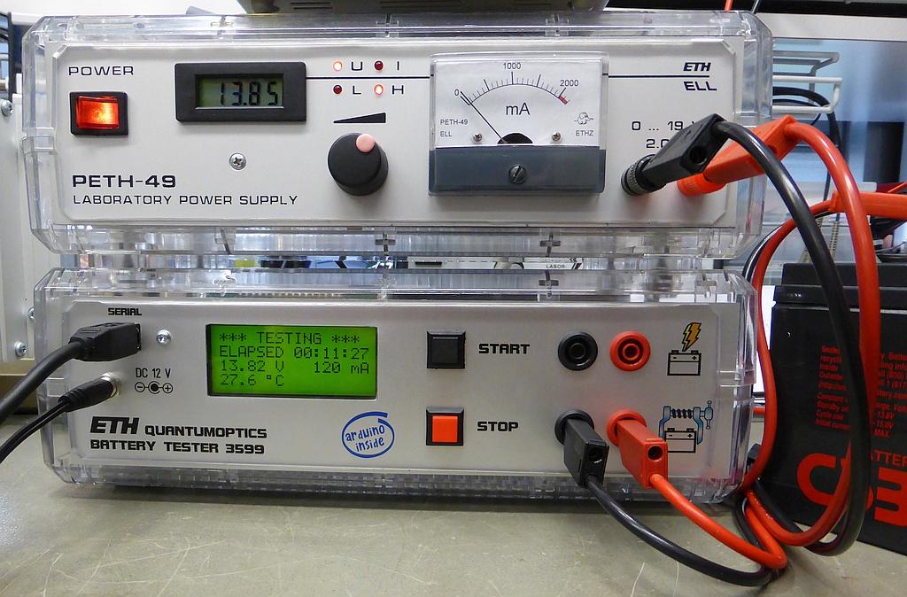 Arduino/Genuino Lead Acid Battery Tester