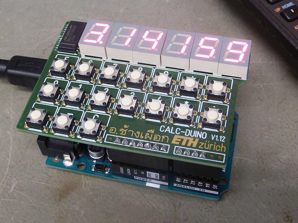 ARDUINO/Genuino 'Pocket Calculator' Shield