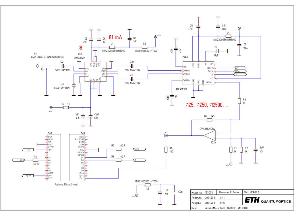 Arduino/Genuino 24 GHz Frequency Counter