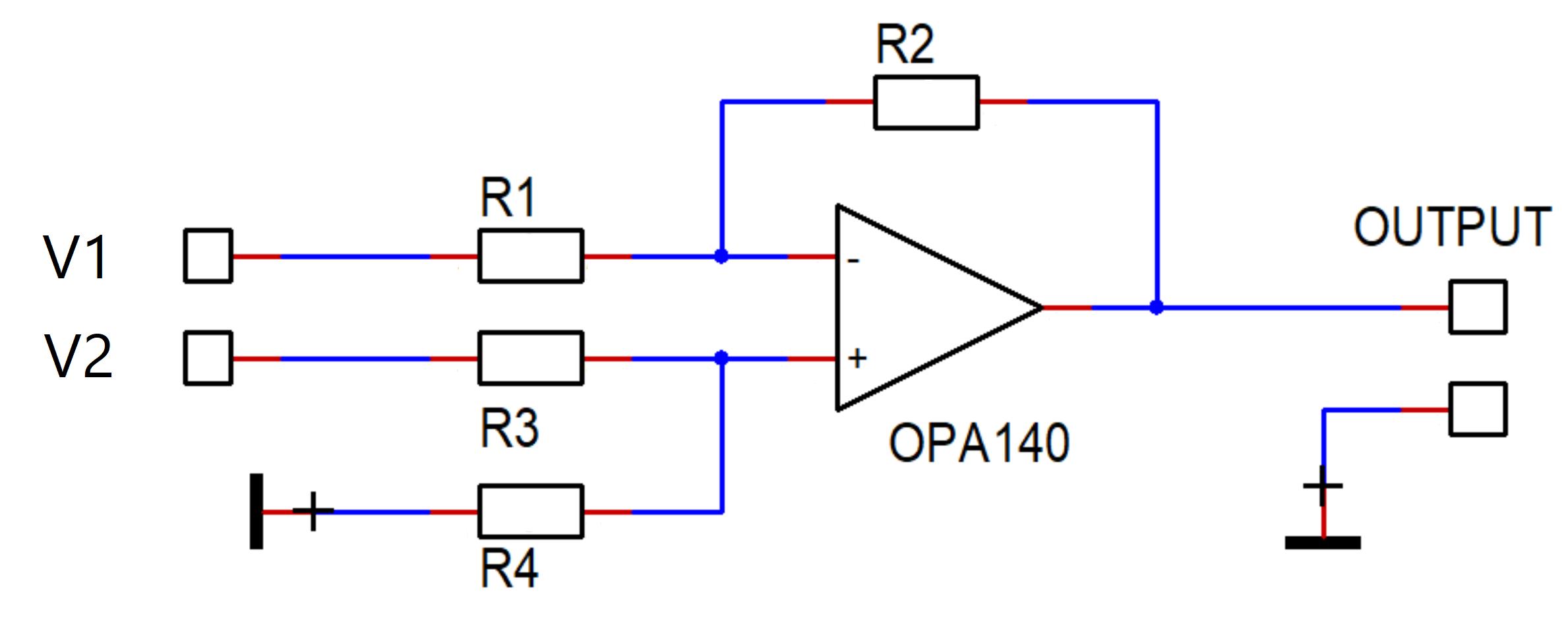Differential Amplifier Gain Calculator