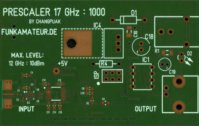 Homebrew 17 GHz Frequency Prescaler :1000