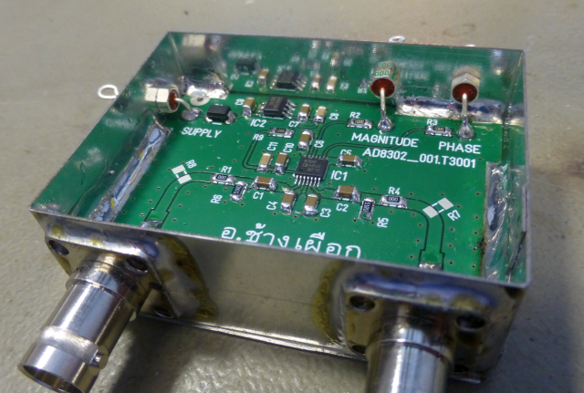 GAIN - PHASE - ADAPTER USING THE AD 8302