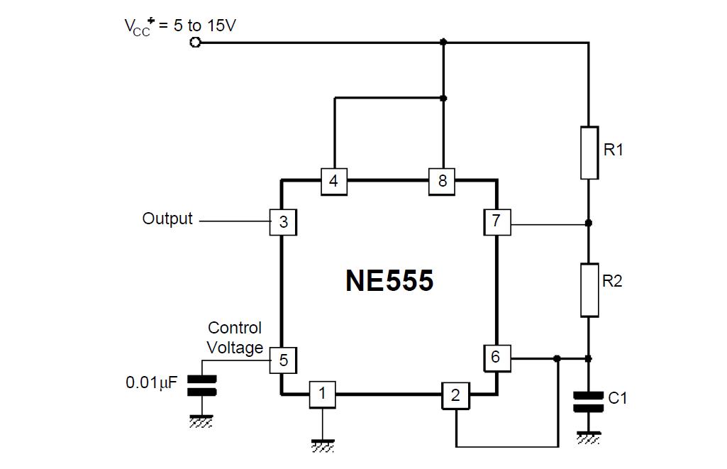 online calculator     component values ne 555 oscillator