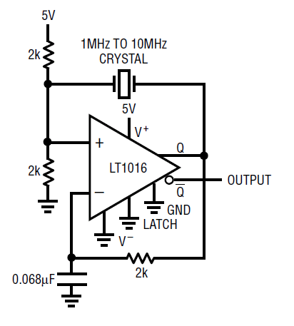 1 Mhz Crystal Oscillator Circuit Diagram
