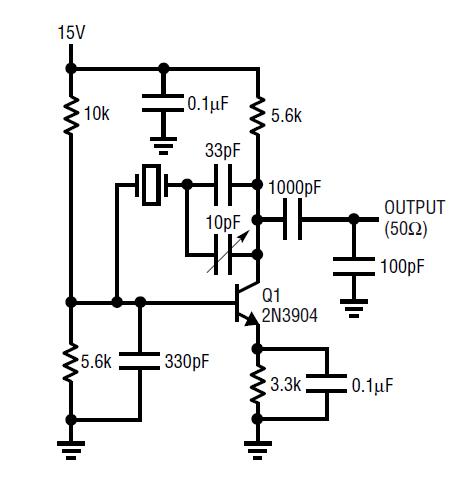circuit collection oscillators 2n3904 xtal oscillator