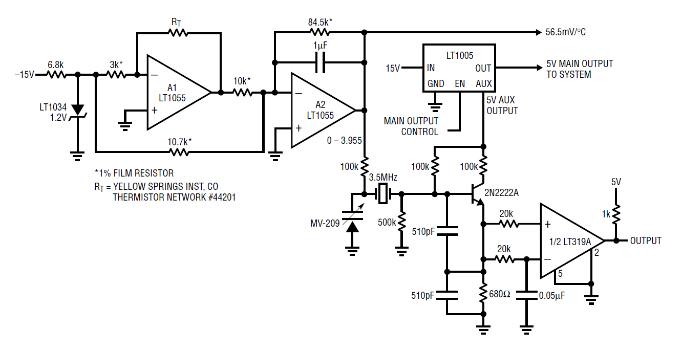 Circuit Collection Oscillators Inverter Op Amp Circuits Are Designed Source Linear Technology Techniques For Clock Sources Hints Please Read The Application Note