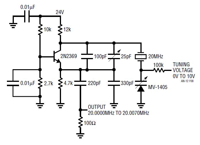 Low Voltage Oscillator : Mhz crystal oscillator circuit diagram and