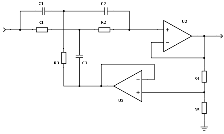 Band stop filter electronic circuits and diagram electronics active twin t notch filter calculator circuit diagram ccuart Gallery