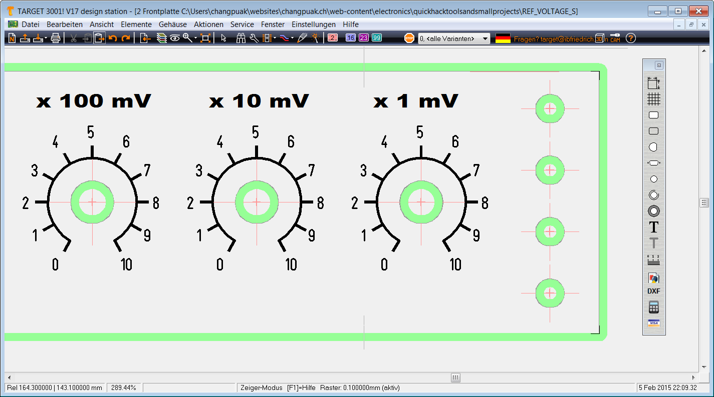 Frontpanel Design using Target3001