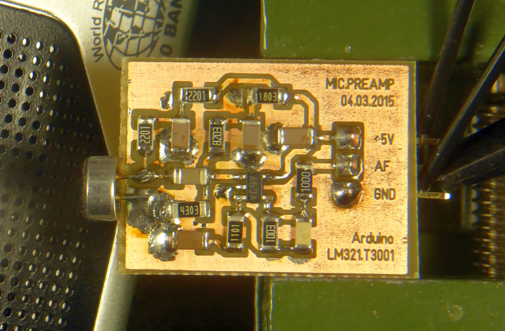 Microphone Preamplifier (with LM321)